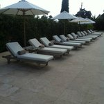 Lounge chairs at the pool.