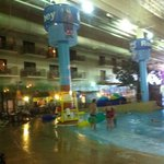 water park, looking through the window from lobby