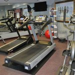 Gym - even includes some free weights (also towels and water)