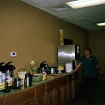 Attendant Terri in the Breakfast Room