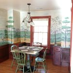 Dining Area with hand painted mural