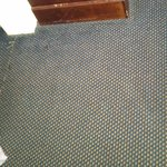 carpet was dirty andsticky