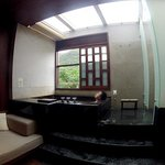 Private hot spring room at Villa 32
