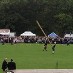 Pitlochry Highland Games ----September 2013   Caber Tossing