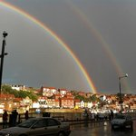 A double rainbow in Whitby Bay. 18/09/13