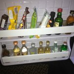 Mini-bar is packed with a wideselection.