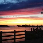 took this on the grounds of the harbour quarters! an august sunset