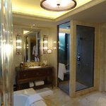 Excellent shower room with rain head.