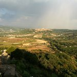 Gathering storm over Orvieto. View from rock behind Misia.
