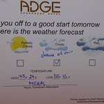 Weather forecast card (shame about the spelling mistake!)