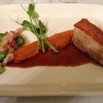 Twice cooked pork belly at Hotel Shamrock