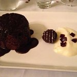 Dessert to die for - black forest pudding at Hotel Shamrock