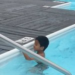 My little one insisting to swim alone.