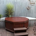 Secuded hot tub