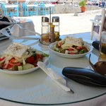 Greek Salads from the poolside bar - Mmmmm