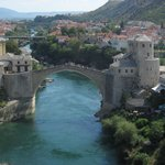 Mostar Bridge Taken From Minaret Balcony