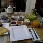 My firs brakefast in the Riad