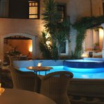 Courtyard & Plunge Pool at night, Palazzo Rimondi