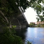 View from walk way under the Congress Street bridge