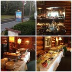 collage of brunch buffet