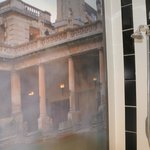 Roman Baths mural in shower