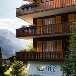 Hotel Bellevue, perched on a hill overlooking the valley