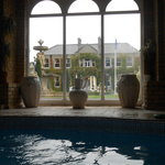 view of the manor house from the spa pool, nice