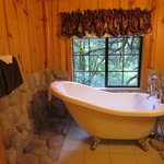 After a long hike...ahh!  Room 9 Tub.