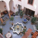 Riad Ahlam Central courtyard