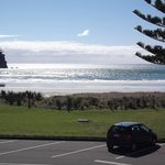 Looking straight across to Mt Maunganui Beach