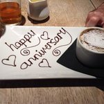 we must have told them when we booked it was our anniversary!nice touch!!