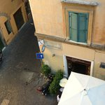 View from room at Smeraldo Hotel, Rome.