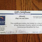 Gift Certificate that they refused to honor!
