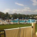 main pool, loud music... cleaner than other pool!