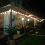 The tiki bar during our shrimp boil