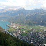 Interlaken and Lake Brienz from Harder Kulm