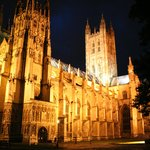 Canterbury Cathedral at night