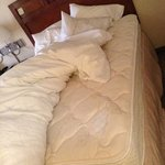 our bottom sheet was not fitted, which kept coming up while we were sleepging. my husband was sl