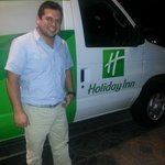Freddy, the super swing shift driver & efficient Holiday Inn van