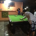 playing pool!