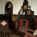 Lounge with period fireplace