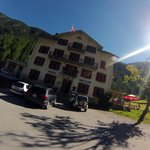 The Auberge... Photo is a bit artsy. Taken with a GoPro camera