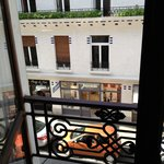 View onto rue Vavin from hotel room