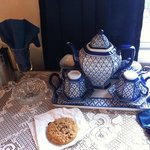 Our tea set in room, yes we used it