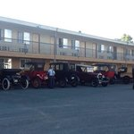 CanAm Model T tour - backlot of Travelodge, Duncan, BC