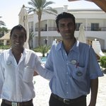 Hassan and Mr Kamal, the lovely pool bar staff