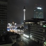 Alexanderplatz view at night from room