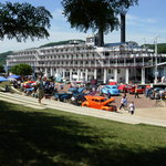 Yearly Heritage Port July Car Show with the American Queen