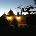 The trullo at night on arrival