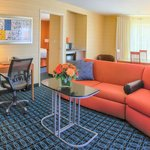 The One Bedroom Suite features enclosed sleeping quarters, dining and entertainment areas.